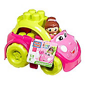 Mega Bloks First Builders Pink Lil Vehicle - Catie Convertable