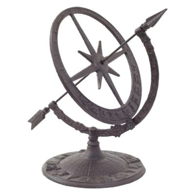 Cast Iron Decorative Sundial Armillary Garden Ornament
