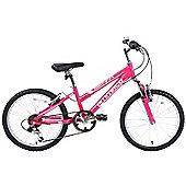 """Ammaco Sienna Girls 18"""" Wheel Alloy Front Suspension Bike"""