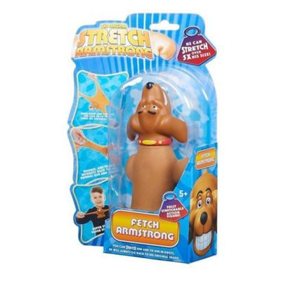 The Original Stretch Armstrong - Fetch Armstrong Brown Dog (Red Collar)