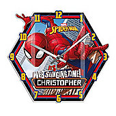 Spider Man Personalised Wall Clock