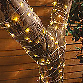 200 LED Solar Powered Copper Wire Starry String Lights