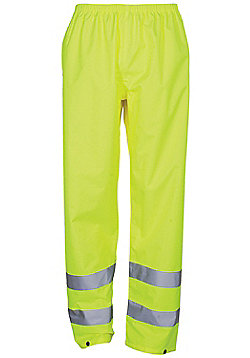 Aspect Mens High Visibility Motorbike Waterproof Overtrousers Trousers - Yellow