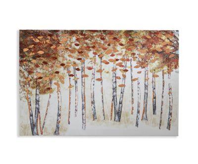 Copper Birch Printed Canvas 40cm x 60cm