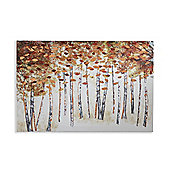 Copper Birch Printed Canvas 40cm x 60cm