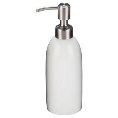 Tesco white ceramic soap dispenser
