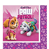 Pink Paw Patrol Napkins - 2ply Paper