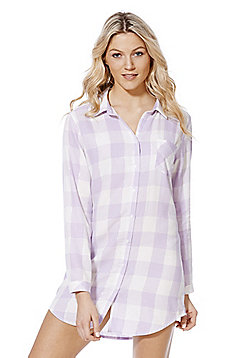 F&F Sparkle Check Nightshirt - Lavender