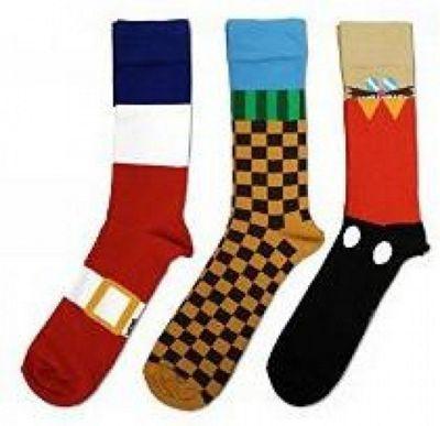 Sonic the Hedgehog Cotton Socks - Set of 3 Pairs - Footwear