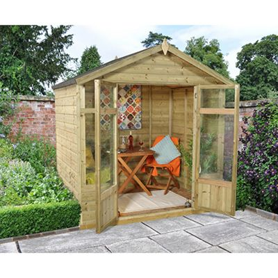 Forest Garden Bloxham Summerhouse - 7x5 Shiplap Apex Pressure Treated