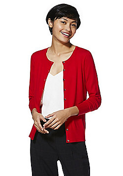 F&F Button-Through Cardigan with As New Technology - Red