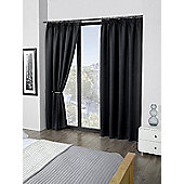 Cali Blackout Pencil Pleat Curtains, Black 168x137cm