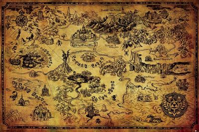 The Legend of Zelda Hyrule Map Poster