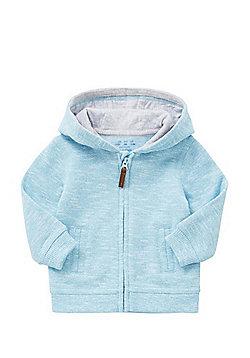 F&F Marl Brushback Hoodie - Turquoise