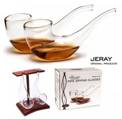 Jeray Vinology Set of 2 Brandy Pipe Sipping Glasses BS/BP2S