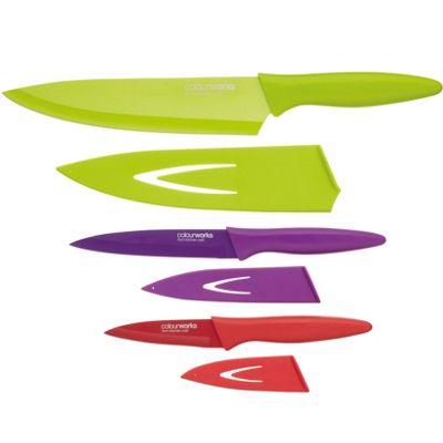 KitchenCraft Colourworks 3 Piece Knife Set