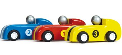 Le Toy Van Pullback Racers Set of 3 Wooden Toy