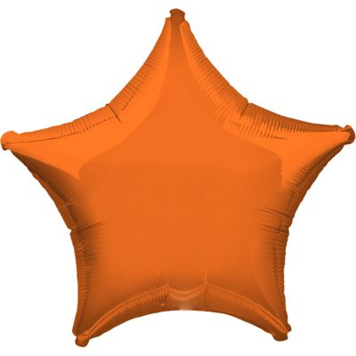 Orange Star Balloon - 19 inch Foil