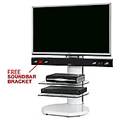 Origin II S4 White Cantilever TV Stand - With Free Soundbar Bracket
