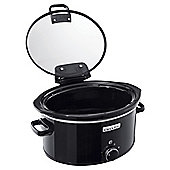 Crock-Pot CSC031 Hinged Lid 5.7L Slow Cooker - Black