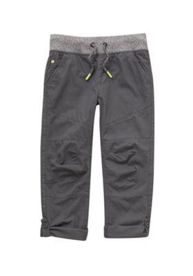 F&F Ripstop Rib Waist Trousers Grey 5-6 years