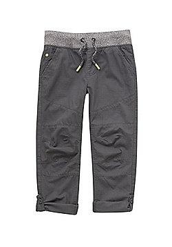 F&F Ripstop Rib Waist Trousers - Grey