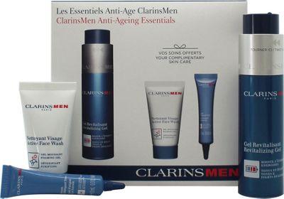 Clarins Men Gift Set 50ml Revitalizing Gel + 30ml Active Face Wash + 10ml Anti-Fatigue Eye Serum