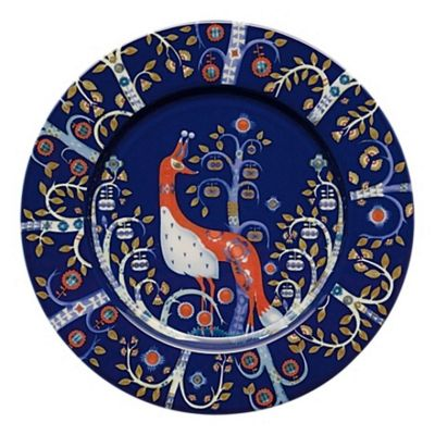 Iittala Taika Porcelain Salad Plate in Blue