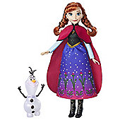 Disney Frozen Northern Lights Anna Doll & Olaf