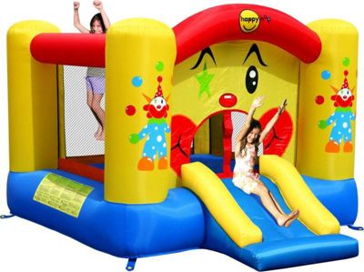 Clown Bouncy Castle with Slide and Basketball Hoop - Rideontoys4u