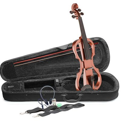 Stagg Full Size Electric Violin Outfit - Violin Burst