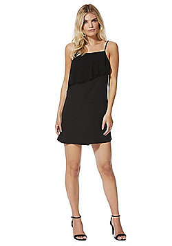 F&F Chiffon Layer Camisole Dress - Black