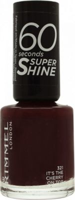 Rimmel 60 Seconds Nail Polish 8ml - It's Cherry On The Top