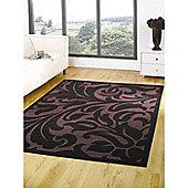 Element Warwick Black/Purple 180x250 cm Rug