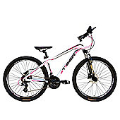 Tiger HDR 27.5 Front Suspension Mountain Bike White Pink