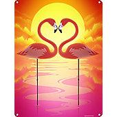 Symmetrical Love Tin Sign