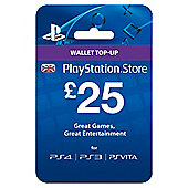 £25 PlayStation Network Wallet Card PS4