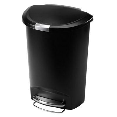 simplehuman 50 Litres Plastic Semi Round Pedal Bin