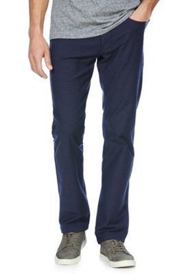 F&F Stretch Straight Leg Jeans with Belt 34 Waist 30 Leg Navy