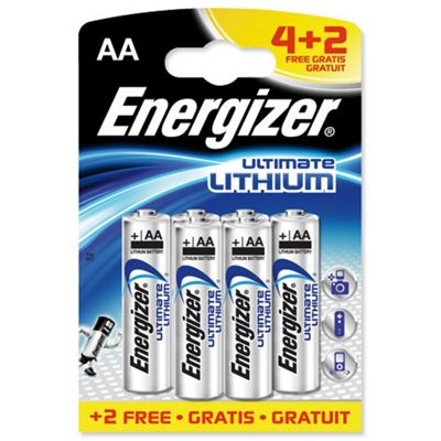Energiser 50 L91B42 Ultra Lithium Battery AA