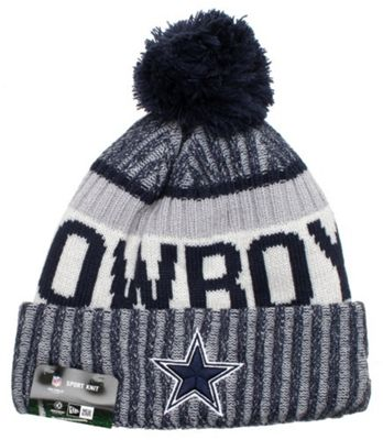 ... reduced new era cap co nfl sideline bobble knit 2017 beanie dallas  cowboys a936e 4ae7a e73330131d1a