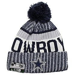 New Era Cap Co NFL Sideline Bobble Knit 2017 Beanie - Dallas Cowboys 8bdace9e0057