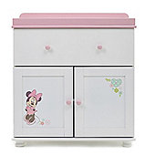 OBaby Minnie Mouse Closed Changing Unit (White with Pink Trim)