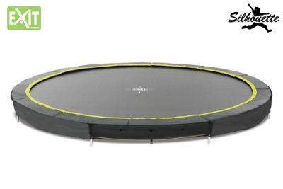 EXIT Black Edition Ground 12ft Trampoline