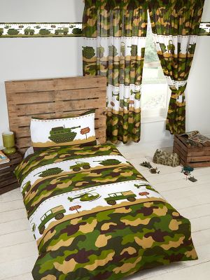 Army Camp Camo Single Duvet Cover Set