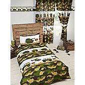 Army Camp Camo Single Duvet Cover Set