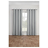 Canvas Lined Eyelet Curtains - Silver