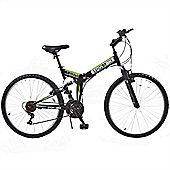 "Stowabike 26"" Mtb V2 Folding Dual Suspension 18Sp Gears Mountain Bike Black"
