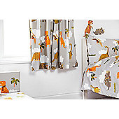 Ready Steady Bed Kids Jurassic Theme Pencil Pleat Curtains 66x54 with Tiebacks