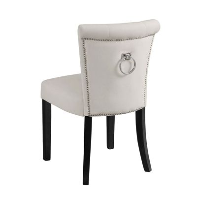 Positano Dining Chair with Back Ring - Cream